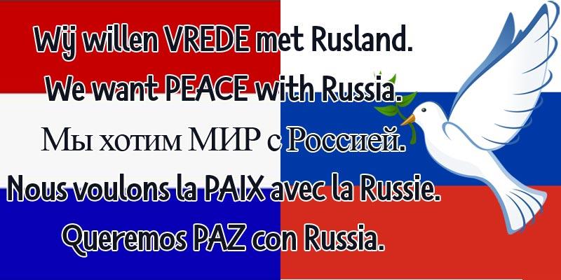 Spontaan protest: wij willen #vrede met Rusland -