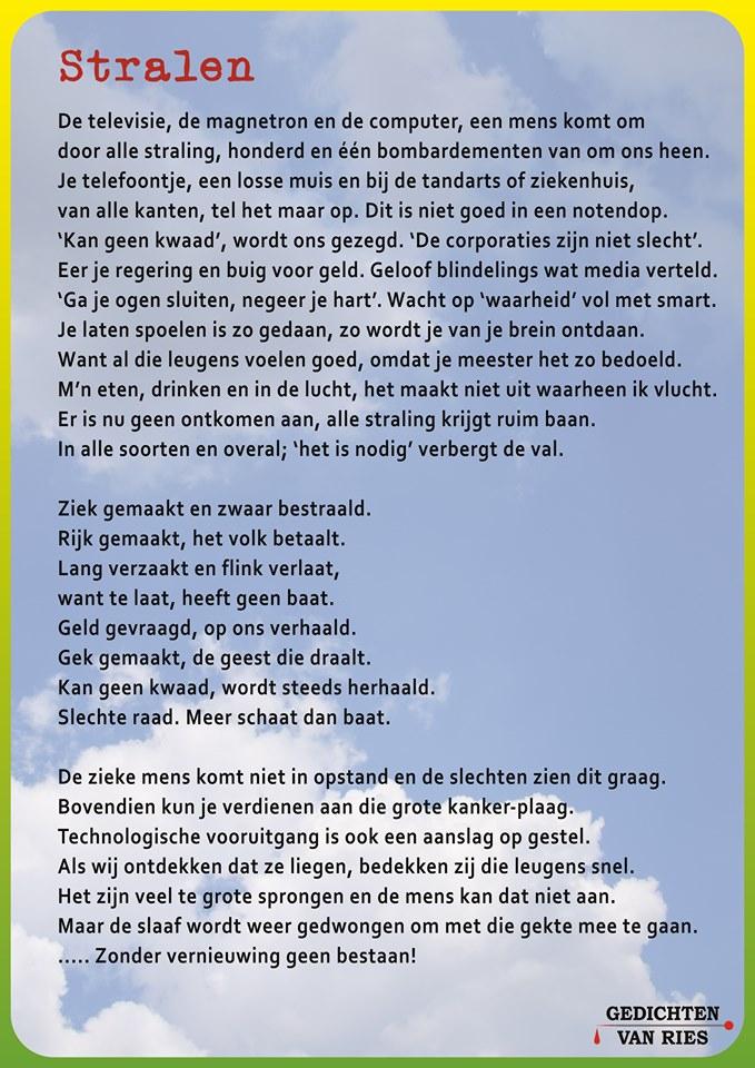 Ries Fokkum Stopt Zijn Maatschappij Kritiek In Zijn Gedichten