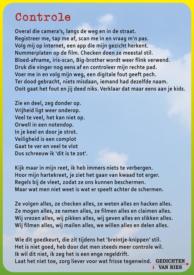 Super Ries Fokkum stopt zijn maatschappij kritiek in zijn gedichten - De VG-33